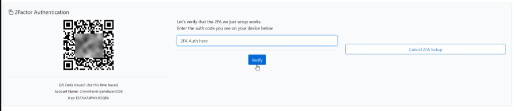 Verify 2FA